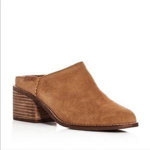 Toms Leila Suede Block Heel Mules size 10